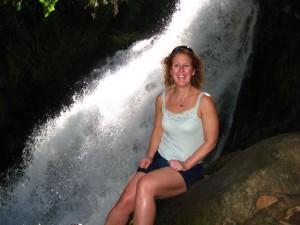 Layna at small falls
