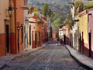 Colorful Steet,  San Miguel de Allende, Guanajuato, Mexico